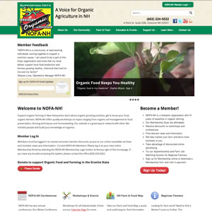 New WordPress website for the Northeast Organic Farming Association of New Hampshire