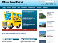 Milford NH School District WordPress Multisite Websites