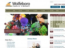 Wolfeboro NH Public Library Website Homepage