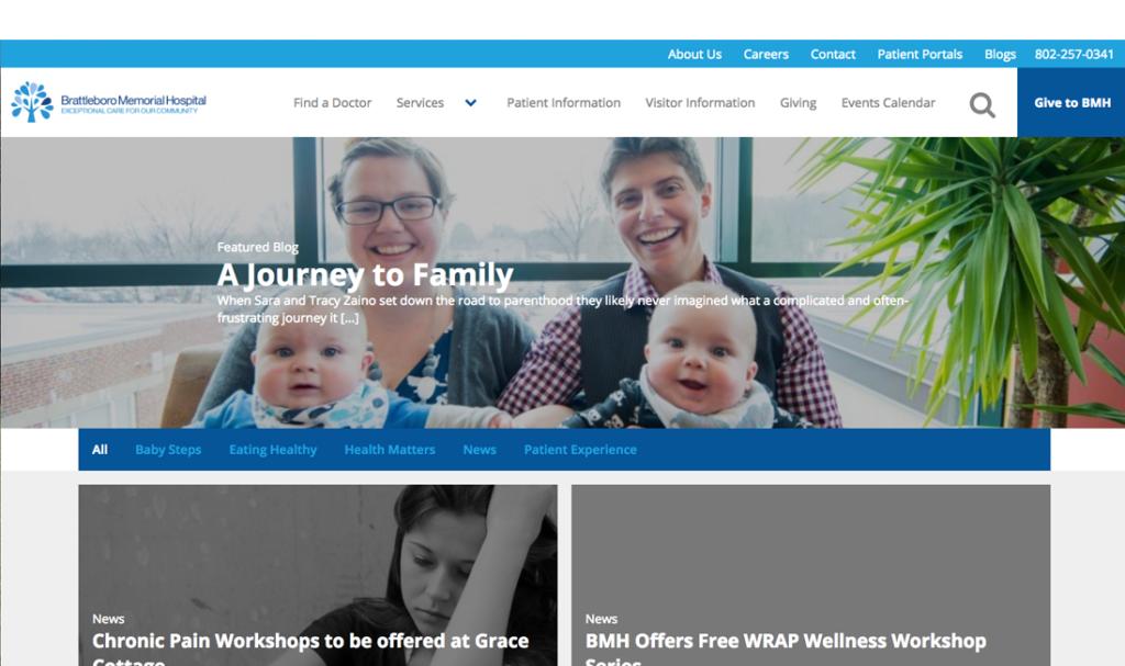 Brattleboro Memorial Hospital new Blog Design