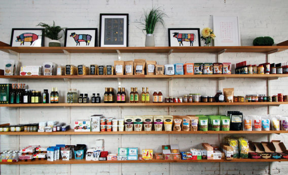 Mike's Organic Store Shelves